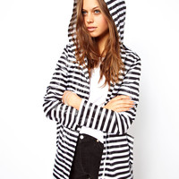 ASOS | ASOS Pac A Parka In Mono Stripe at ASOS