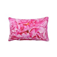 Lumbar Pillow _ Pink Peony from Zazzle.com