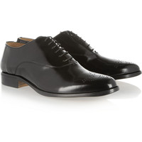 Maison Martin Margiela | Perforated leather Oxford brogues | NET-A-PORTER.COM