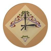 Art Nouveau Large Wall Clock from Zazzle.com