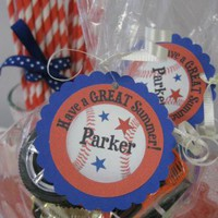 Special PRICE BASEBALL thank you tags goody bag tags end of school year by Time2celebrate