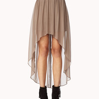 Chiffon High-Low Skirt