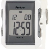 Armitron Men's 408177WHT Square Chronograph White Resin Digital Sport Watch:Amazon:Watches