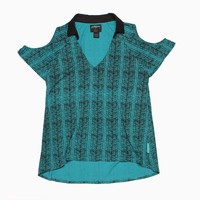 Stussy - Women's Bamboo Cut Out Shirt (Teal)