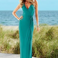 Coral Wrap maxi dress from VENUS