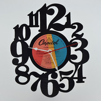 Handcrafted Vinyl Record Clock (artist is Billy Squier)