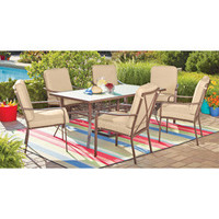Walmart: Mainstays Crossman 7-Piece Patio Dining Set, Tan, Seats 6