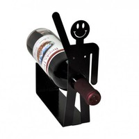 Happy Guy Wine Holder | knobcreekmetalarts - Metal Craft on ArtFire