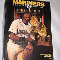 1990 Seattle Mariners Magazine - Vol. 2 Issue 1 Second Baseman Harold Reynolds