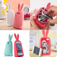 Cute Rabbit Stand Case for iPhone