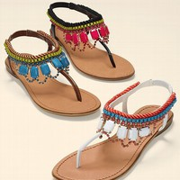 Jeweled Flat Sandal