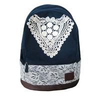 Cute Backpack with Lace for Girls