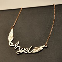 Angel Wing Statement Necklace | LilyFair Jewelry
