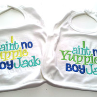 Baby Boy Duck Dynasty Inspired Bib I Ain't No Yuppie Boy