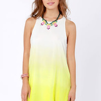 Parade in the Shades Yellow Ombre Dress