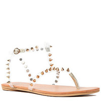 Jeffrey Campbell The Rubicon Sandal in Clear and Gold : Karmaloop.com - Global Concrete Culture