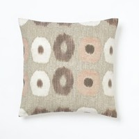 Ikat Circles Pillow Cover