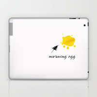 morning egg Laptop & iPad Skin by Steffi Louis-findsFUNDSTUECKE