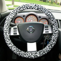 Leopard Steering Wheel Cover by mammajane on Etsy