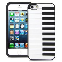 Fosmon JEL Series Piano Case for Apple iPhone 5 - Black:Amazon:Cell Phones & Accessories