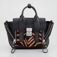 Pashli Mini Calf-Hair & Leather Satchel