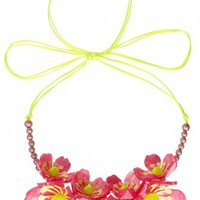 Blossom Ultra Bead Necklace - white