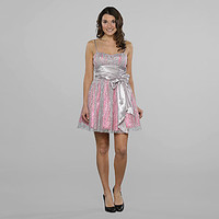 Bee Darlin- -Junior's Glitter Tulle Overly Party Dress-Clothing-Juniors-Dresses