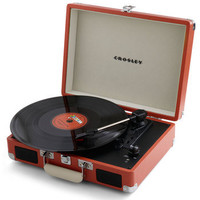 Take Your Turntable in Orange | Mod Retro Vintage Electronics | ModCloth.com