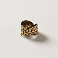 Anthropologie - Twisted Feather Ring