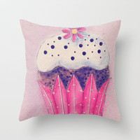 Cupcake Throw Pillow by Irène Sneddon