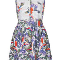 Tropical Number Skater Dress - Dresses  - Clothing