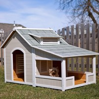 Precision Pet Products Outback Savannah Dog Home with Porch
