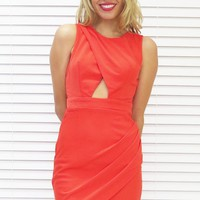 Dress Wrap Cut Out Tangerine Dream