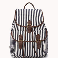 Railroad Striped Backpack | FOREVER 21 - 1052287817