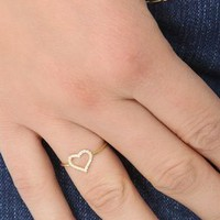 Jennifer Meyer Jewelry Diamond Open Heart Ring | SHOPBOP