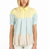 OPENING CEREMONY BENNY GINGHAM BLOUSE - WOMEN - TOPS - OPENING CEREMONY - OPENING CEREMONY