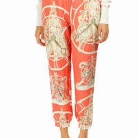 SWASH PRINTED PLEATED TROUSERS - WOMEN - BOTTOMS - SWASH - OPENING CEREMONY
