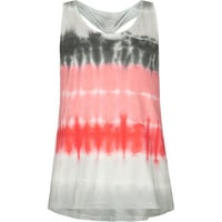 FULL TILT Tie Dye Knot Back Girls Tank