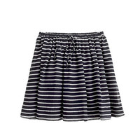Girls' full skirt in stripe