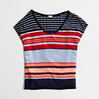 Factory stripe dolman-sleeve tee