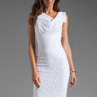 Black Halo Jackie-O Raschel Lace Dress in White Lace from REVOLVEclothing.com