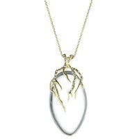 Ophelia Gold Small Clear Vine Pendant :: Necklaces :: Jewelry By Category :: Alexis Bittar