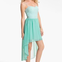 En Crème High/Low Bustier Dress (Juniors) | Nordstrom