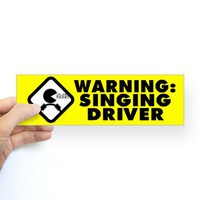 Karaoke Therapy Bumper Bumper Sticker on CafePress.com