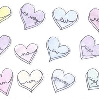 NO - Love Heart Sticker Flakes