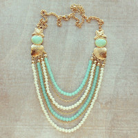 Pree Brulee - Golden Shells Necklace