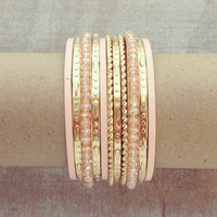 Pree Brulee - Pink Starburst Bangle Set