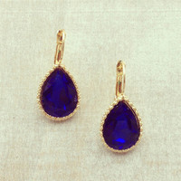 Pree Brulee - Drops of Sapphire Earrings