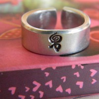 hakuna matata swahili symbol means no worries cuff style aluminum ring