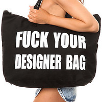*MKL Accessories The F Your Designer Bag in Black : Karmaloop.com - Global Concrete Culture